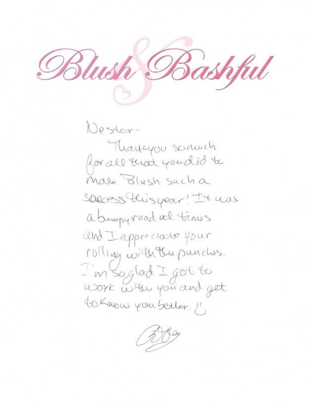 Blush & Bashfull 2014