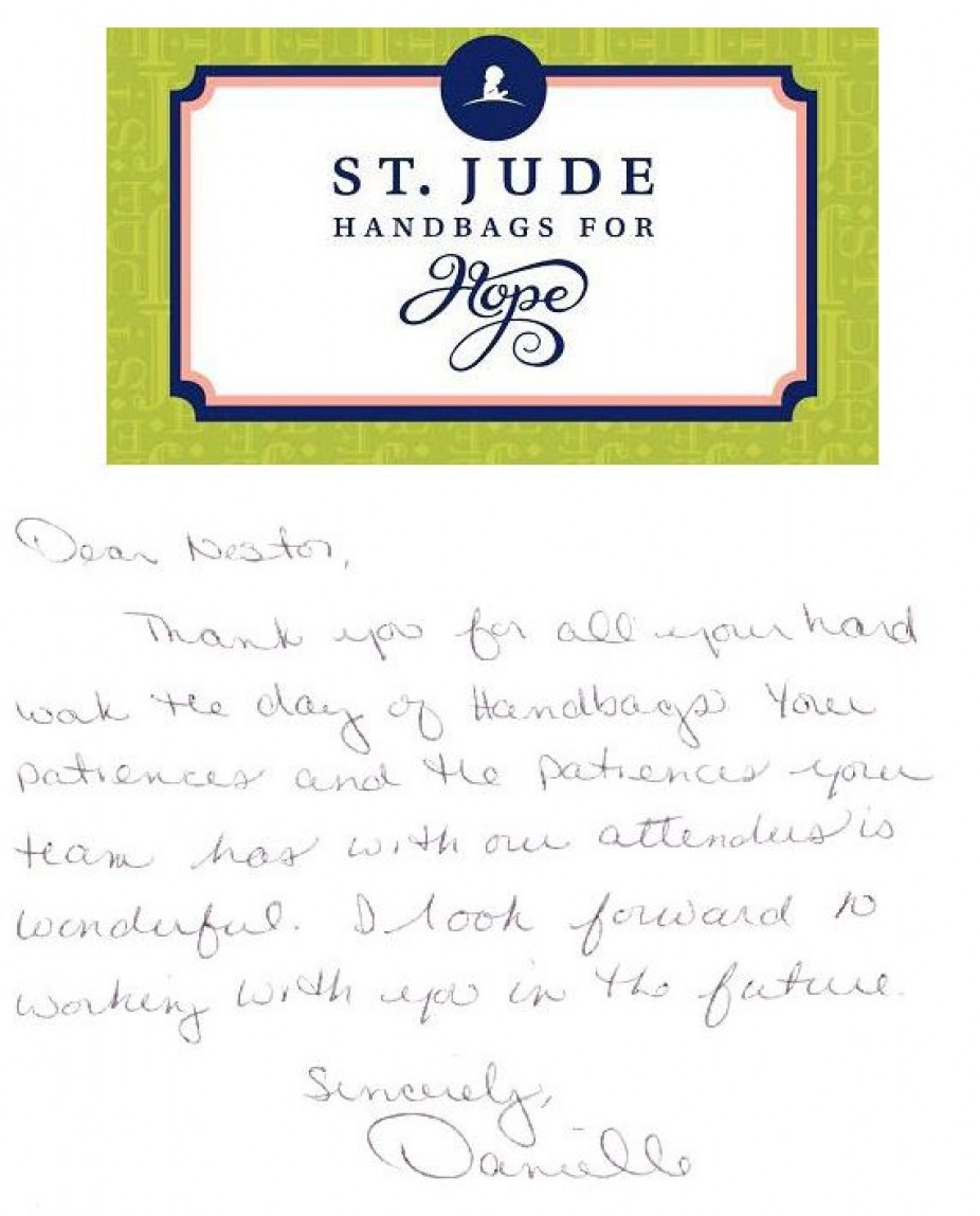 St. Jude Children's Research Hospital Handbags for Hope